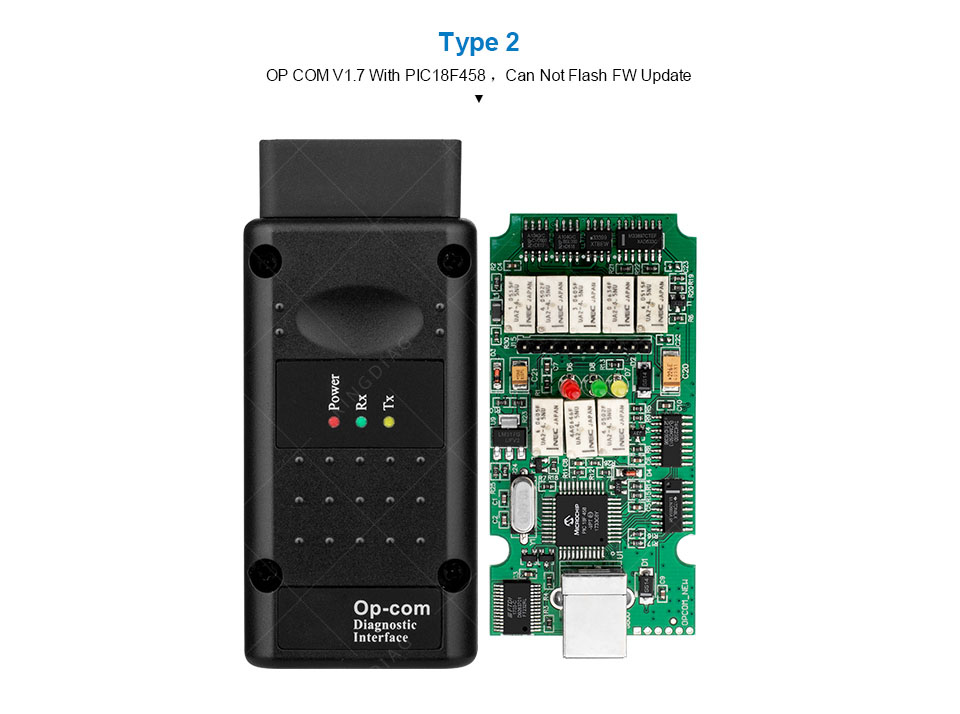 OPCOM Opel V1 65/V1 7/V1 78/V1 99 with PIC18F458 FTDI op-com OBD2 Auto  Diagnostic tool OP COM CAN BUS Interface obd scanner