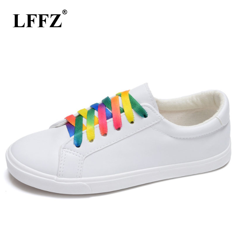 LFFZ New Spring and Summer With White Shoes Women Flat Canvas Shoes Female White Board Shoes Casual Shoes Female ZLL110 2018 new canvas shoes spring summer women shoes genuine leather canvas shoes female round toe flat shoes lace up female canvas s