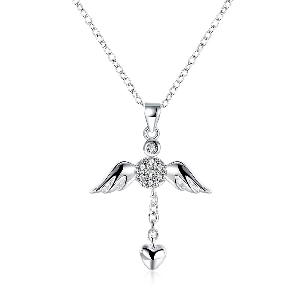 Anime Angel Wings Heart Chain Choker Collares font b Women s b font font b Clothing
