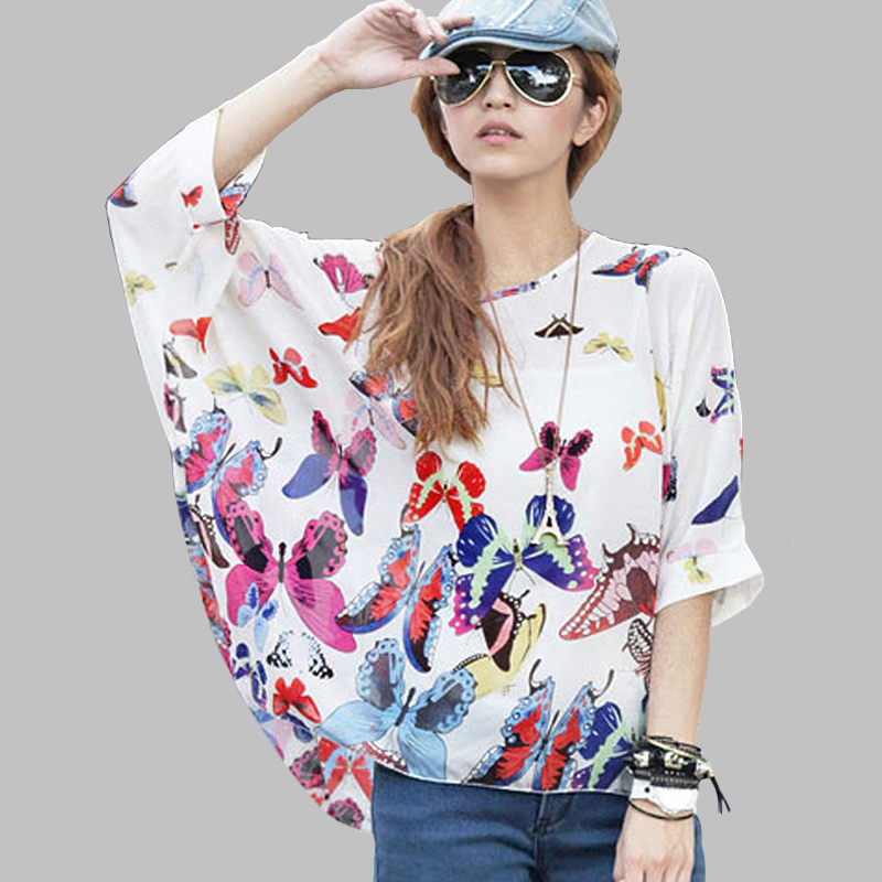Women Blouses and Tops New Fashion 2018 Floral Print Short Sleeve Summer  Blouse Plus Size 4XL 5XL 6XL ... a2b28d527a53