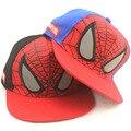 2016 Harajuku Nova Moda Crianças Spiderman Dos Desenhos Animados Bonés de Beisebol Ajustável do Snapback Chapéus de Esportes das Crianças Frete grátis