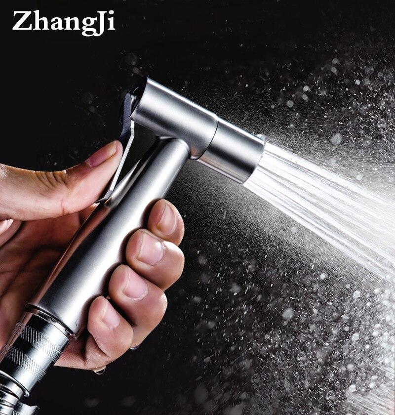 Zhangji Banheiro Do Aço Inoxidável Conjunto kit Higiênico mulheres Bidé torneira Spray de Bidé Pulverizador Handheld Multifuncional Bocal de Lavagem