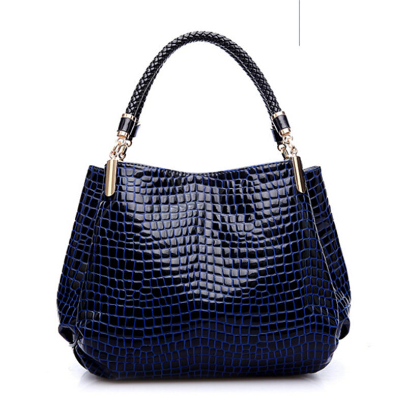 ФОТО Alligator Leather Women Handbag Bolsas De Couro Fashion Famous Brands Shoulder Bag Ladies Bolsas women bag Casual Tote
