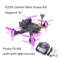 X220 220mm Quadcopter Frame F3 Acro Flight Control Littlebee 30A BLHeli_S ESC 2205 2300kv TS5828 / Flysky FS I6X For Wizard 220