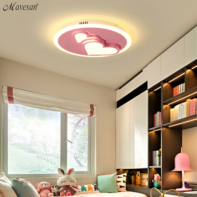 US $97.0 49% OFF|Acrylic Round LED ceiling light decorative kids bedroom  ceiling lamp modern children room LED ceiling lights study room-in Ceiling  ...