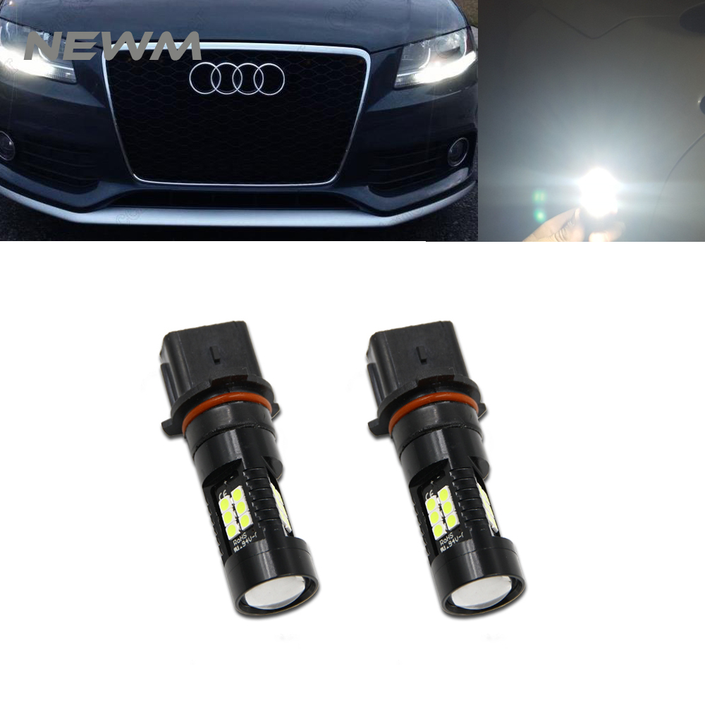 Auto P13W LED Error Free Canbus 21SMD-3030 SH24W LED Bulbs For 2008-2012 Audi A4 Q5 Daytime Running LightsAuto P13W LED Error Free Canbus 21SMD-3030 SH24W LED Bulbs For 2008-2012 Audi A4 Q5 Daytime Running Lights