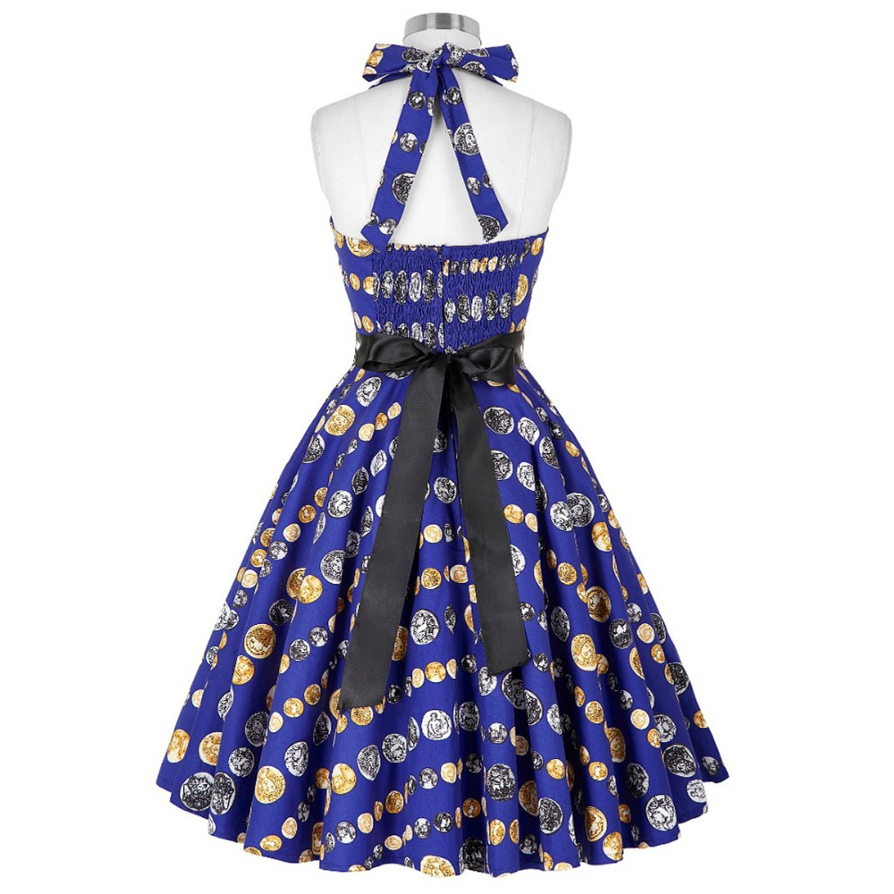 Grace Karin Short Prom Dress 2018 Halter Swing Pin Up Elegant Formal ...