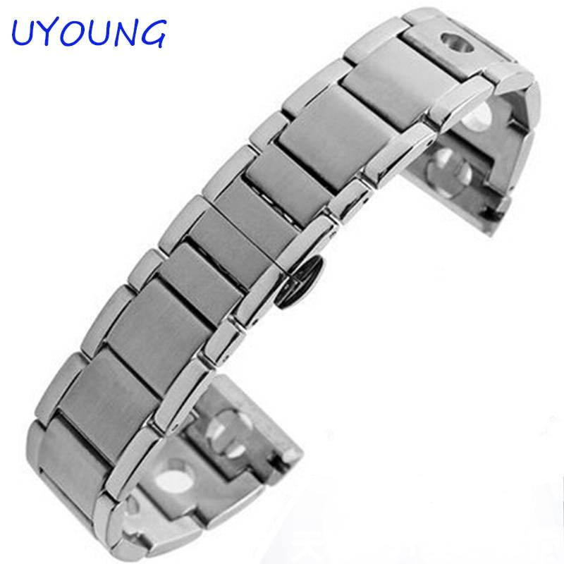 New Unisex 20 mm Argjend Stainless Steel Watch Band, Rrip rripi i - Aksesorë për orë - Foto 2