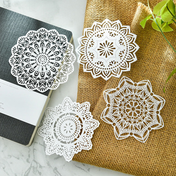 KSCRAFT White Lace Paper Doilies/Placemats for Wedding Party Decoration Supplies Scrapbooking Paper Crafts 1