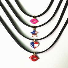 Hot Gothic Choker Necklaces For Women Black Lace Necklace Jewelry Fashion Alloy Pendant Neck Accessories Best Gift Wholesale(China)