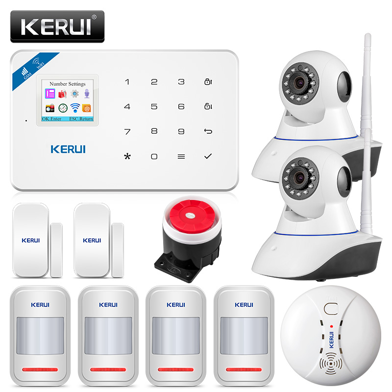 KERUI W18 Sistema di Allarme di Sicurezza Senza Fili IOS/Android APP di Controllo Wifi GSM Home Sistemi di Allarme Antifurto Russo/Inglese/ spagnolo/Francese