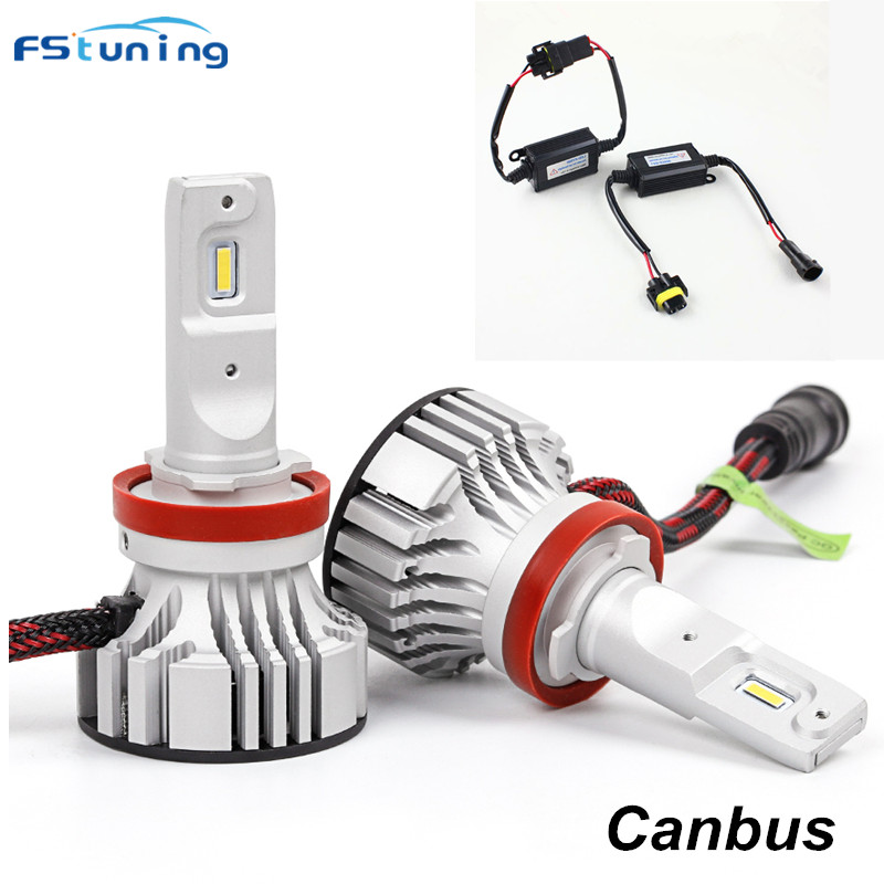 FSTUNING Canbus error free 12000lm H7 H8 H9 H11 9005 H4 9003 hb2 led headlight H4 9003 h7 car fog lamp headlight with decoder 2x h13 h4 9003 hb2 9004 9007 110w 10400lm lumileds chips led car auto canbus headlight light bulb no error fog lamp h l