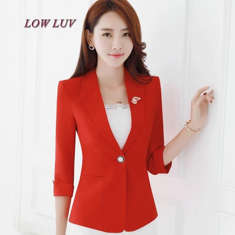 Ladies 2017 new fashion single button suit jacket / pink suit jacket plus large suit suit jacket