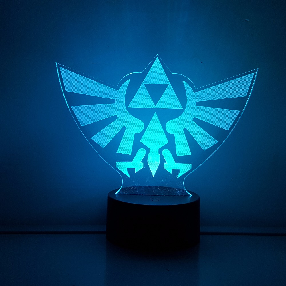The Legend of Zelda LED 3D Nightlight RGB Color Changing Link Action Figure Visual Illusion Table Lamp Anime Breath of the Wild