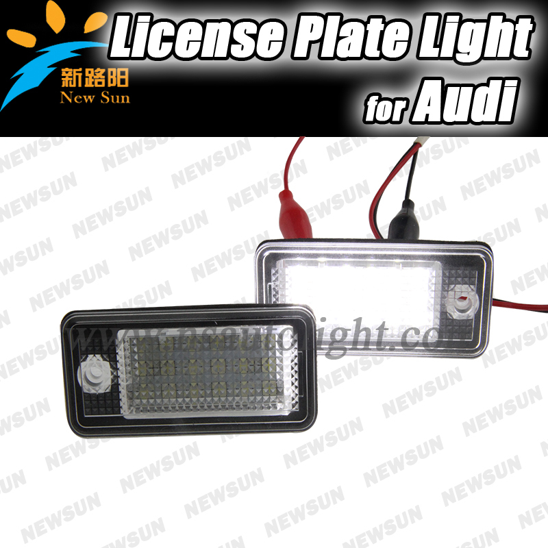 2017 New 2 White Car Error 18 LED License Number Plate Light Lamp For Audi A3 S3 A4 S4 B6 B7 A6 S6 A8 Q7