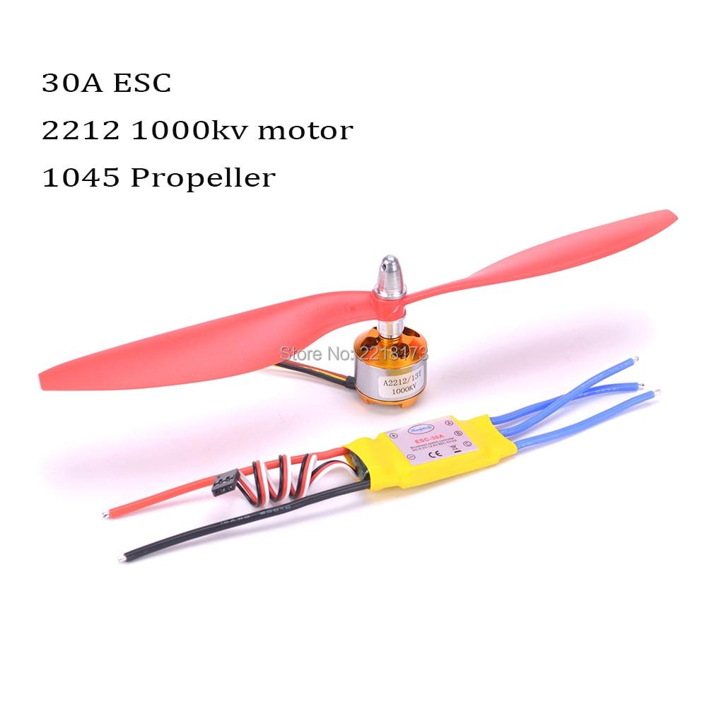 A2212 2212 1000kv Brushless Motor 30a Esc 1045 Propeller Quad Rotor Speed Controller Rc For Quadcopter Airplane Outrunner 930kv 1400kv 2200kv 2450kv Aircraft Helicopter