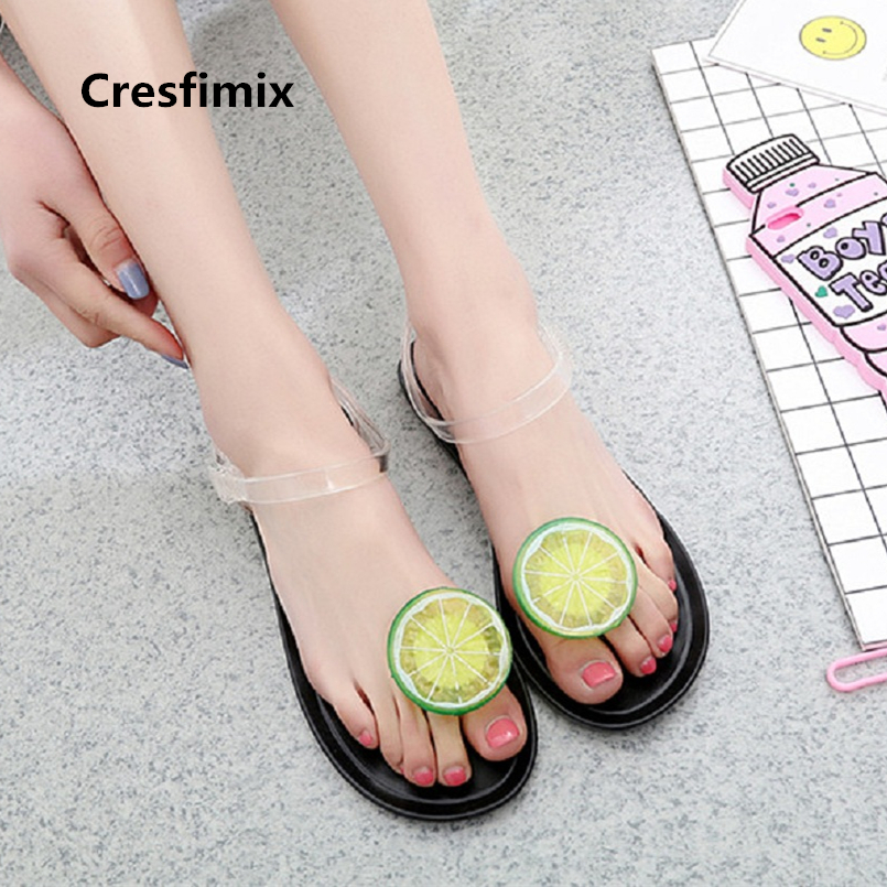 Cresfimix women fashion 2018 cute spring & summer transparent sandals lady casual high quality jelly soft sandals a2723bCresfimix women fashion 2018 cute spring & summer transparent sandals lady casual high quality jelly soft sandals a2723b