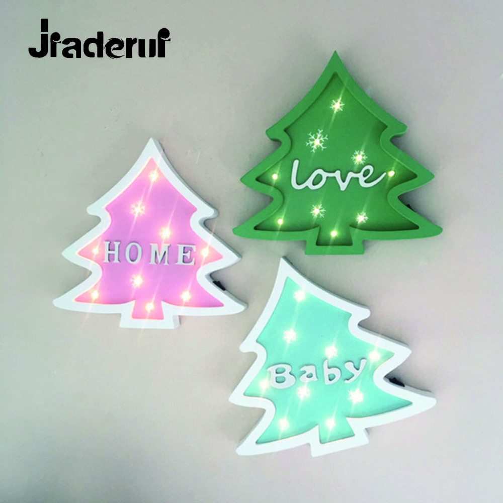Jiaderui LED Christmas Tree Night Light Wooden Table Wall Lamps Bedside Lighting Bedroom Living Room Home Decor Lamp Kids Gifts modern acrylic led wall lights bedroom bedside wall lamp lampara de pared bed room decoration lighting wall sconces