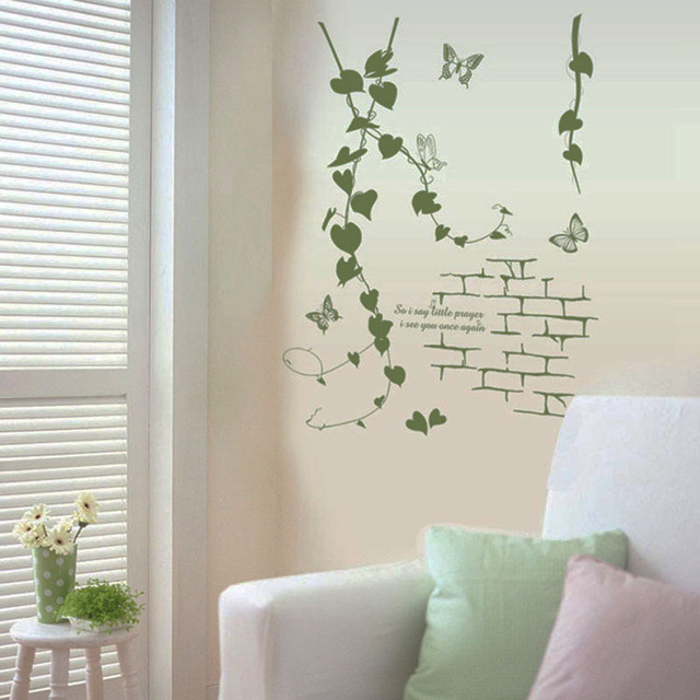 simple korean room wall butterfly aesthetic living vines sticker pvc modern decor delicate parlor rattan decorative stickers mouse zoom