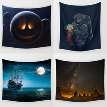 Space Astronaut Mandala Tapestry Wall Hanging Hippie Boho Decor Psychedelic Moon Tapestry Nature World Map Wall Cloth Tapestries все цены