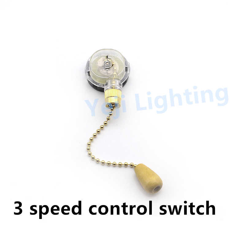 Ceiling fan switch Pull chain cable wire cord 3 speed 3 level zipper switch Lamp speed regulation shift Lighting accessories