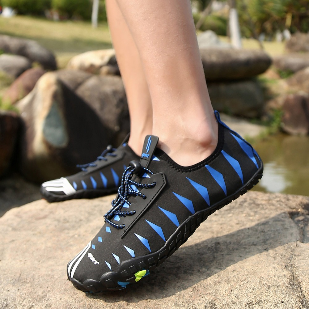 Water Aqua Shoes Men Women Beach Barefoot Shoes Outdoor Sneaker Soft Non Slip Slippers Fishing Swimming Sea Shoes in Upstream Shoes from Sports Entertainment