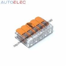 25 unids/lote 221 415 tuercas de palanca 5 conectores de empalme compactos de nuevo estilo conector de cable conectores de desconexión rápido