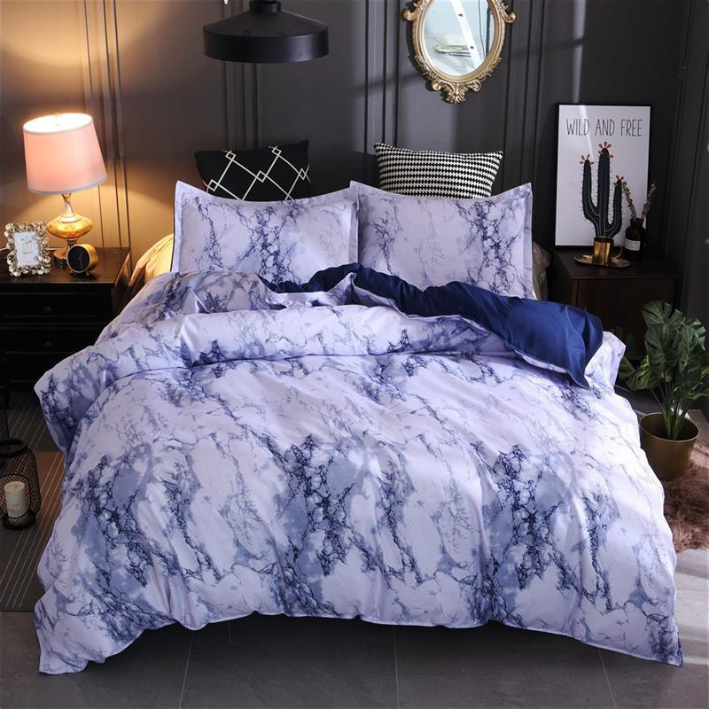 Marble Duvet Cover King Size Queen Size Comforter Bedding Sets Quilt Cover Sets JK01