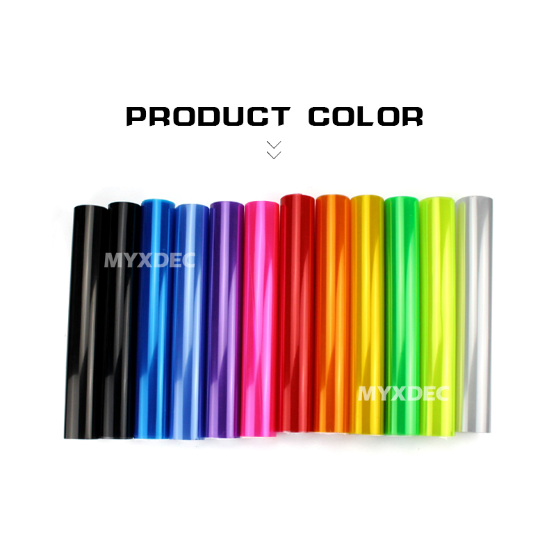 "30cmx1m 12""x40"" Auto Car Light Headlight Taillight Tint Vinyl Film Sticker Easy Stick Motorcycle Whole Car Decoration 12 Colors 1"