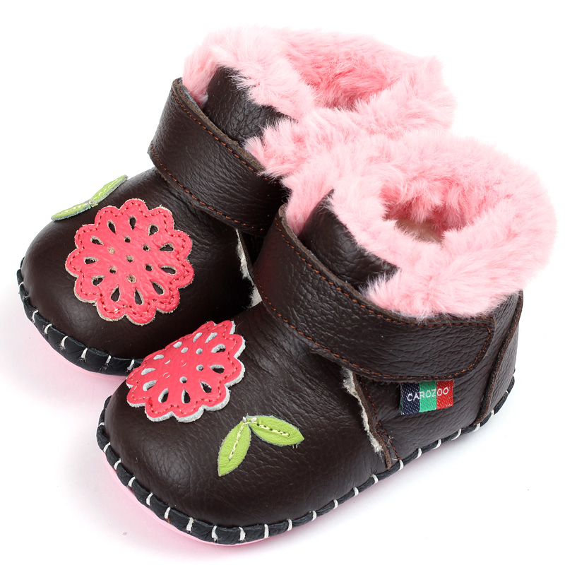 Leather Baby Boots For Girl  Super Keep Warm Winter Baby Boots Soft Baby Shoes Infant Baby Girls Boys First Walkers Shoes