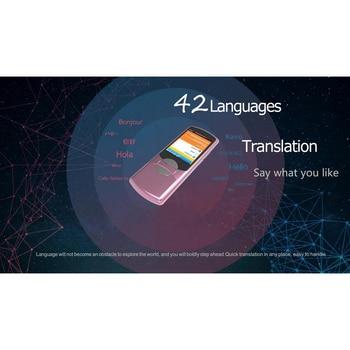 "42 Languages Portable Smart Voice Translator 2.8"" Touch Screen WIFI Network Offline English Korean Russian Language Translator"