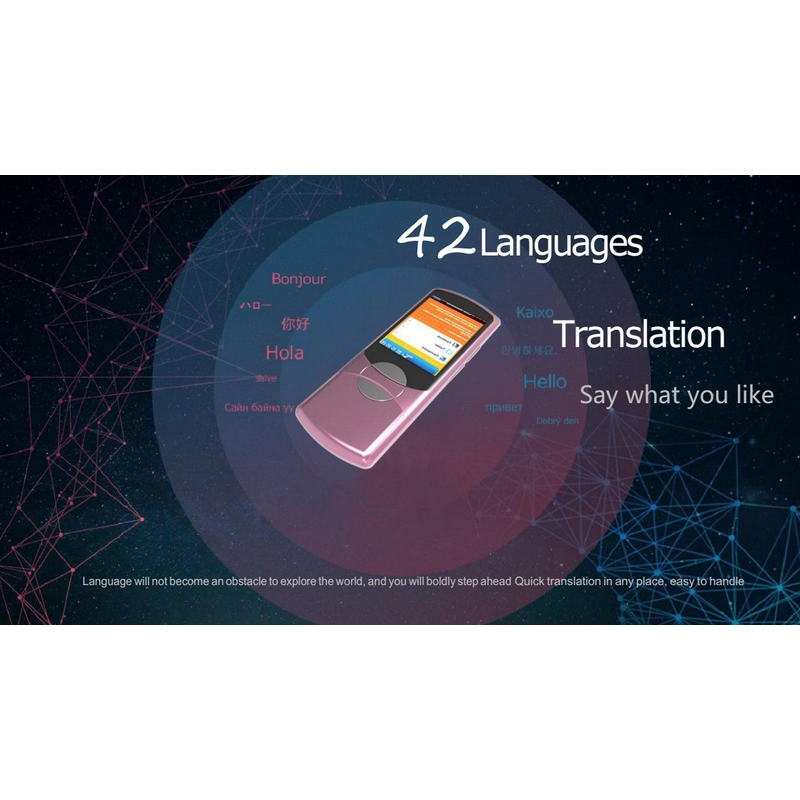 42 Languages Translator Portable Smart Voice 2.8 Touch Screen WIFI Network Offline English Korean Russian Language Translator 42 Languages Translator Portable Smart Voice 2.8 Touch Screen WIFI Network Offline English Korean Russian Language Translator