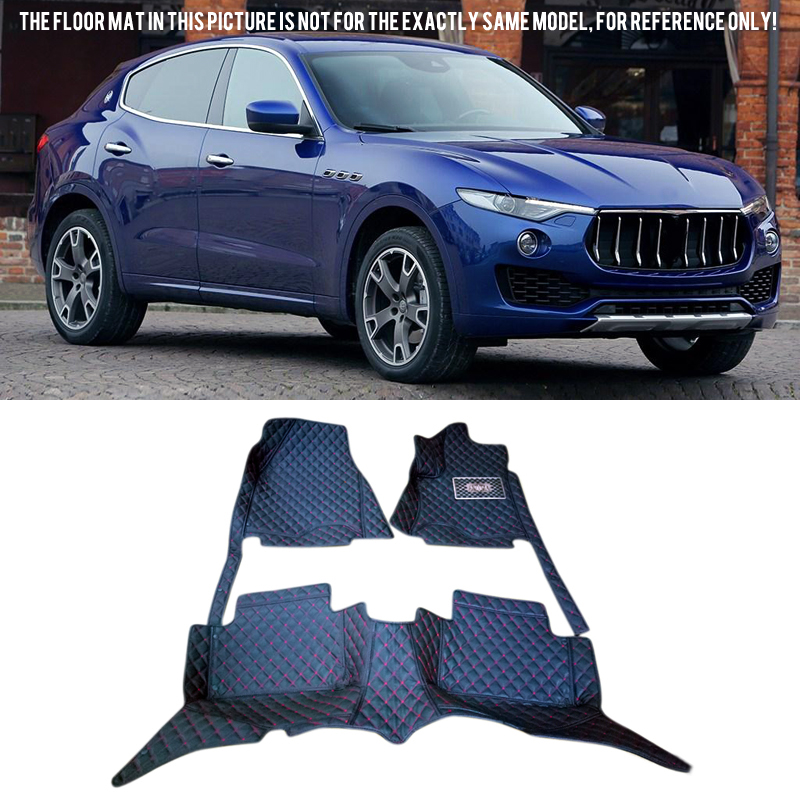 car-styling Accessories For Maserati Levante 2016 2017 Quality Leather Carpets Cover Car Foot Mat Floor Pad 1set 2004 2006 for bmw x5 e53 2004 2005 2006 accessories interior leather carpets cover car floor foot mat floor pad 1set