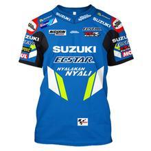 Moto rcycle Racing moto rbike moto cross moto футболка для верховой езды Мужская Повседневная дышащая одежда с коротким рукавом для вождения camiseta suzuki