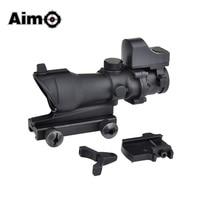 Aim O Tactical Hunting Reticle Scope ACOG 4X32 Scope + Mini Red Dot AO5317