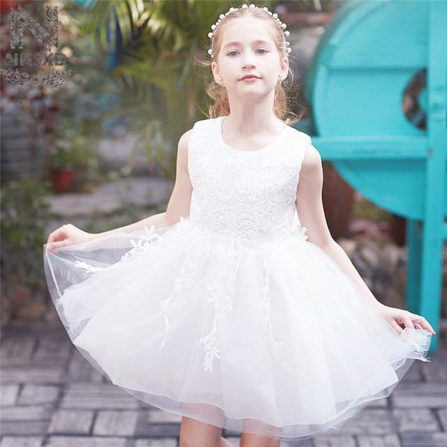 Summer White Lace Children\'s Graduation Gown Dress Girl Baby Wedding ...