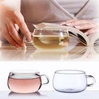 7oz 4PCS Borosilicate Glass Tea Espresso Handle Cup Coffee Drinkware Glassware