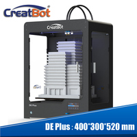 Creatbot 0,4 мм сопла три 400 градусов экструдеры металлический каркас построить Размеры 400*300*520 мм 3 PLA /ABS 3D принтер DE плюс 03 (DF03)