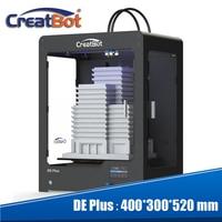 Creatbot 0.4mm Nozzle three 400 degree extruders Metal Frame Build Size 400*300*520 mm 3 PLA/ABS 3D printer DE plus 03(DF03)
