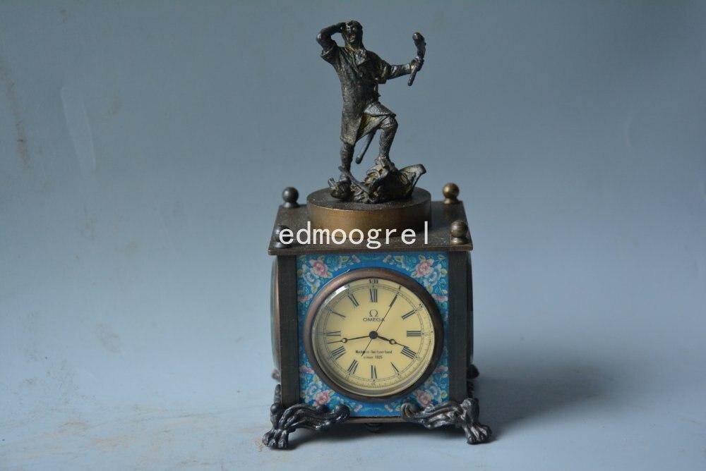 Horloge Rare de la dynastie Qing | Horloge de beauté du cuivre royal, de style occidental, le prospecteur, parfaitement conçu, livraison gratuite