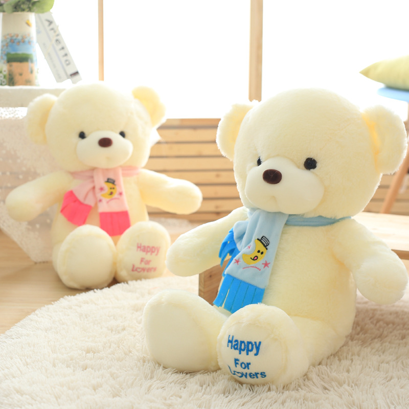 New Arrival Soft Lovers Scarf Bear Plush Toys Stuffed Giant Teddy Bear Girl Favorite Toys Valentine's Day Gift For Girl On Sale