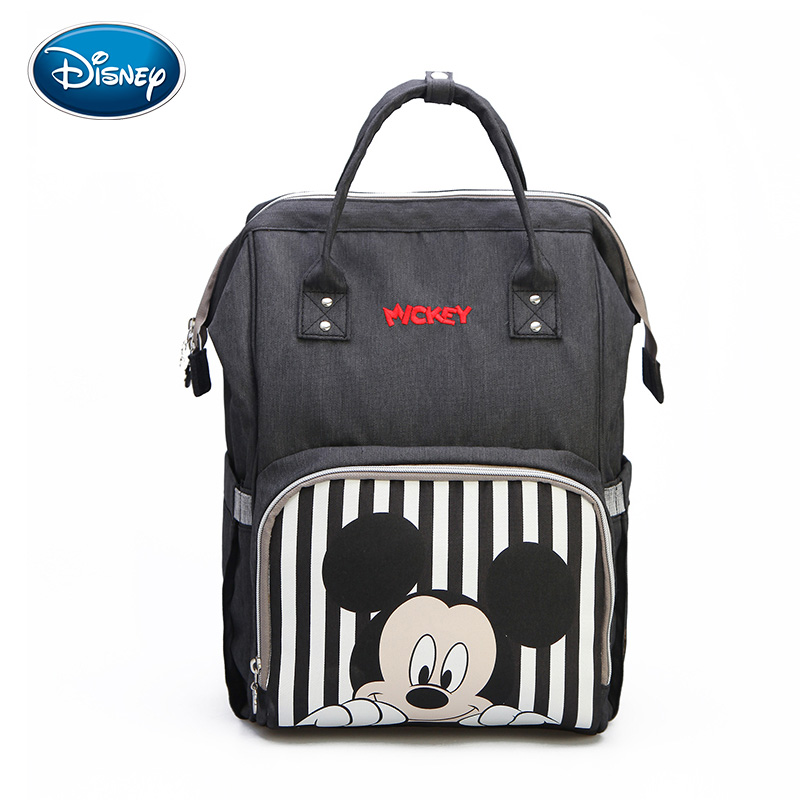 Disney Mickey Minnie Travel Diaper Bag Bolsa Maternidade	Waterproof Stroller Bag USB Baby Bottle Warmer Mummy Backpack Nappy Bag