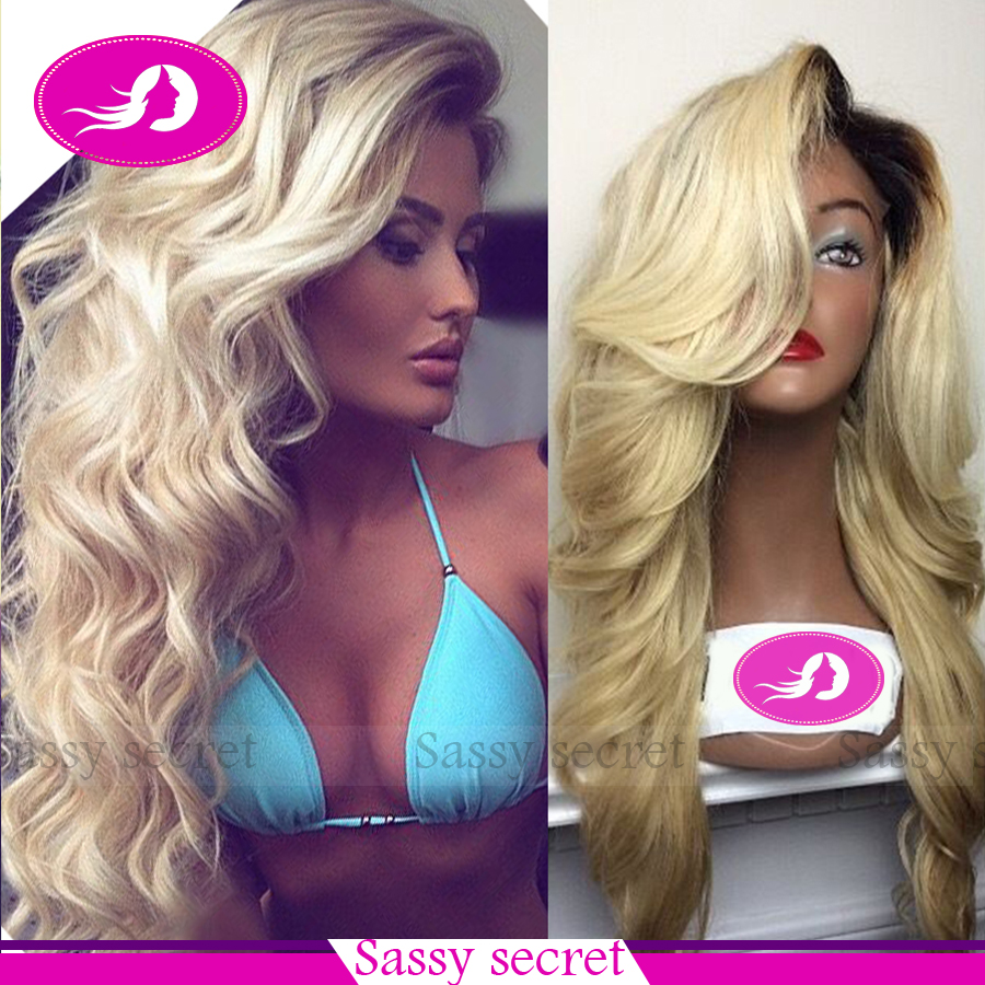 Blonde And Brown Lace Front Wigs 15