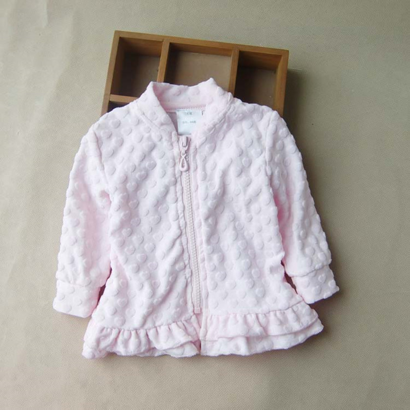 2017 Spring Baby Girl Jacket Child Outerwear Jacquard Velvet Toddler Infant Heart Zipper Coat Princess Girls Clothing