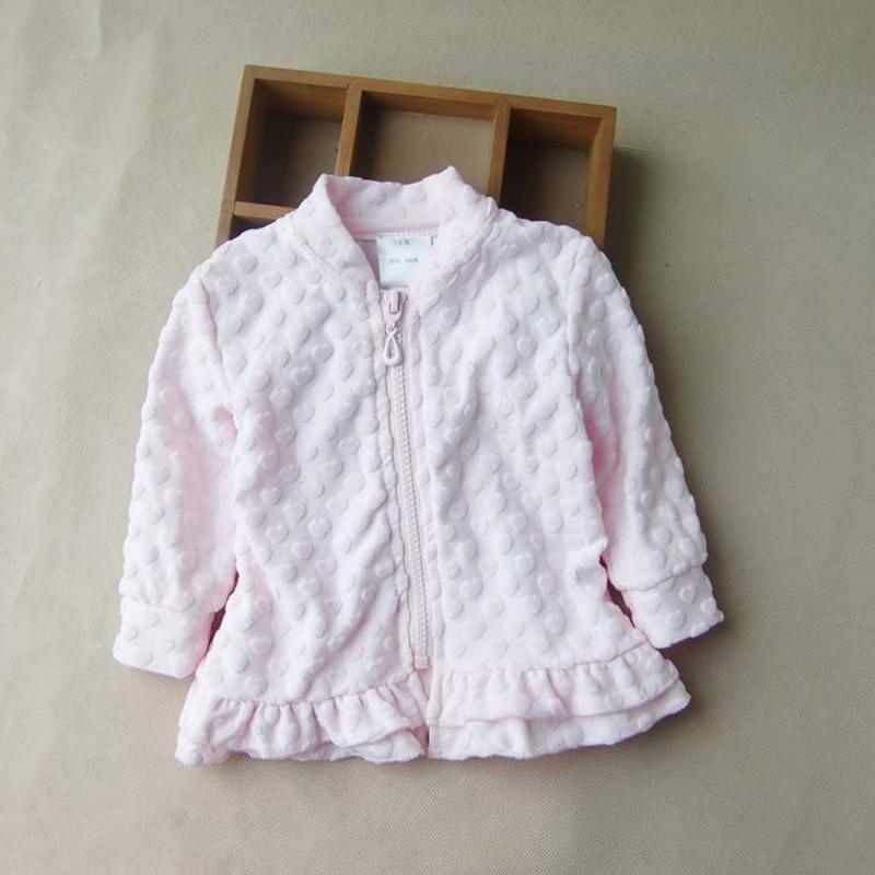 Coat Outerwear Jacket Velvet Girls Zipper Jacquard Long-Sleeve Heart Kids