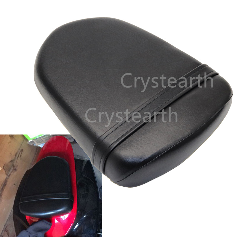 Black Motorcycle Rear Passenger Seat Pillion Cushion Pad For Suzuki GSXR GSX R 600 750 2006 2007 GSXR600 GSXR750 06 07 K6 K7