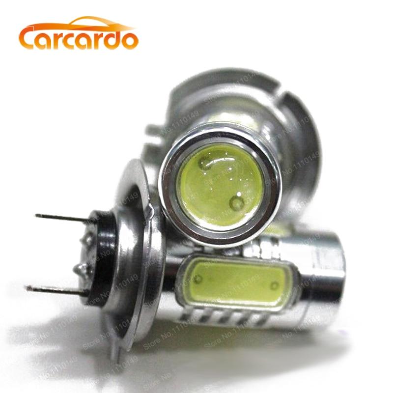 1 pár 7.5W H7 ködlámpa izzó LED autó fényszóró 7.5W H7 ködlámpa nagy teljesítményű ingyenes szállítás