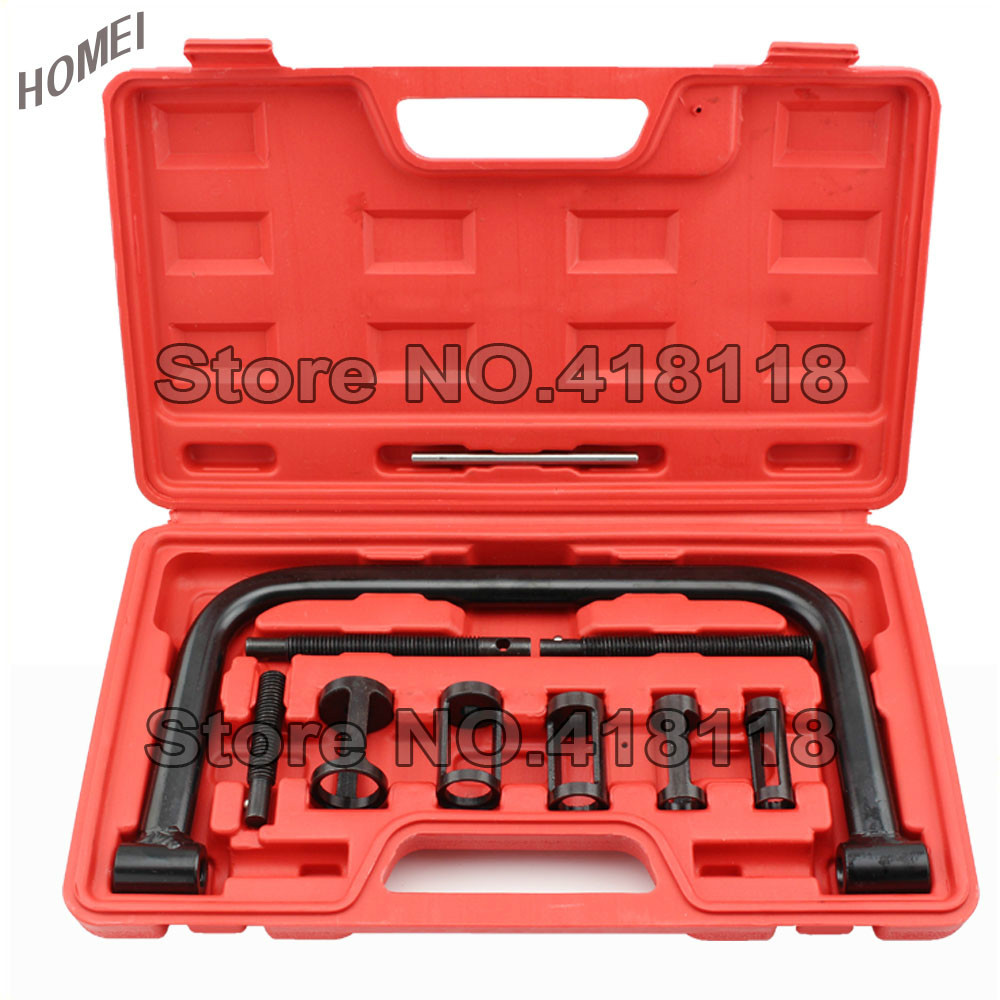 Motorcycle Engine Tools: 10pc Valve Spring Compressor Set Installer Removal Tool-in
