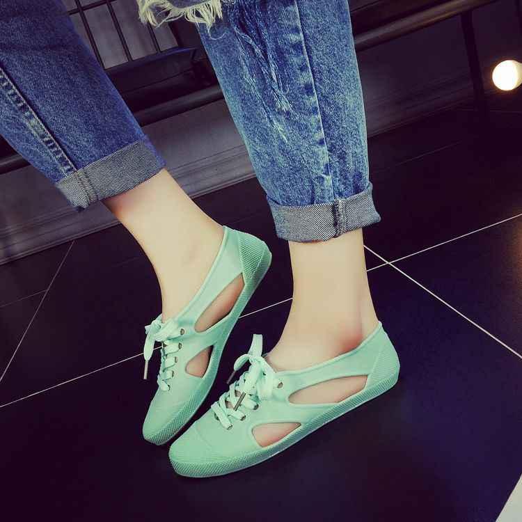 2018 summer women flats plastic shoes