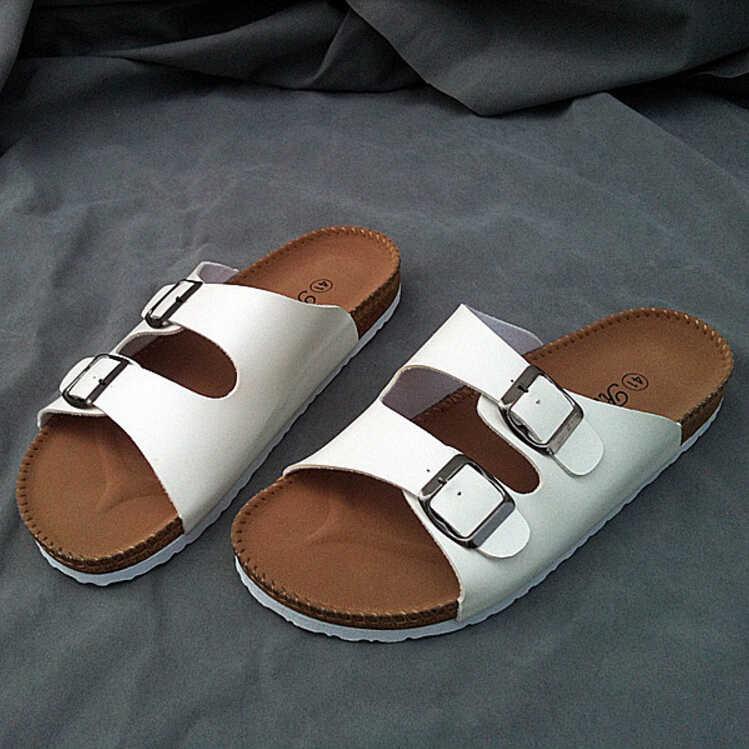 4dc36bf56383 Casual Design Brand Men Flat Shoes Cork Sandals Solid Color Anti Slip Beach Sandals  Flip Flops